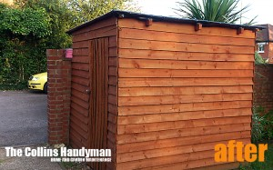 Customized shed After Photo